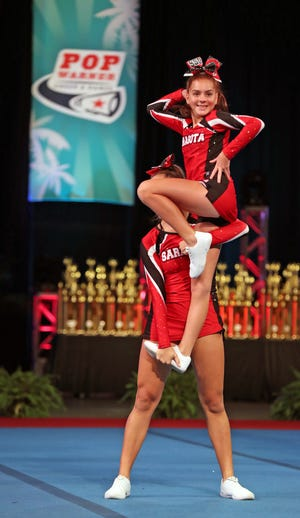 The Sarasota Sun Devils picked up a D1 Pee Wee title Sunday in the Pop Warner National Cheer & Dance Championships in Orlando.
