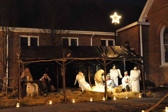 This is one of the live Nativity scenes last year at Ewell's-St. Paul United Methodist Church in Clayton. This year's event will be in a new drive-by format Dec. 10-12 to comply with coronavirus safety precautions.