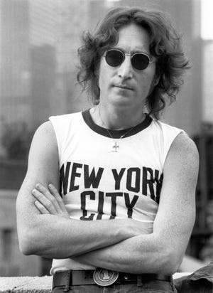 John Lennon on rooftop in New York City, August 29, 1974. (Courtesy Bob Gruen/MCT)