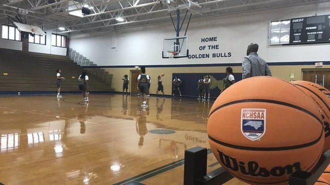 High school basketball teams across North Carolina started practice and tryouts on Monday with the NCHSAA's latest guidelines in place.