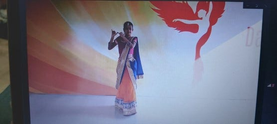 A student from the Margika Organization for Special Learners in India shared a traditional Indian dance at the International Concert Exchange for World Disability Day via Zoom, held Dec. 3. .