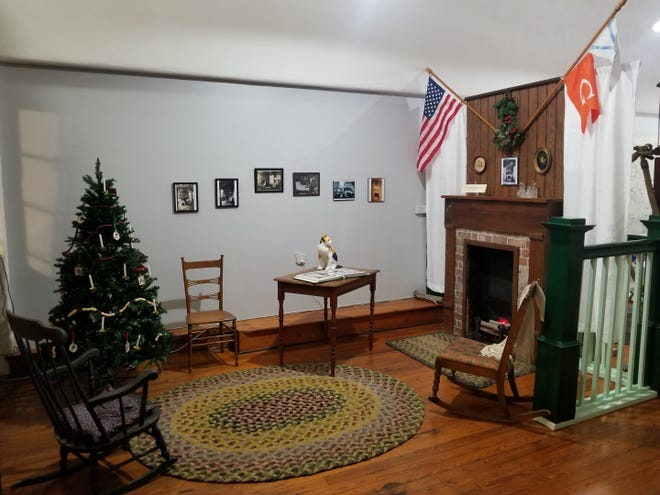 The Christmas exhibit at the Bay County History Museum in Panama City depicts an early Christmas scene from the home of G.M. West, founder of Panama City.