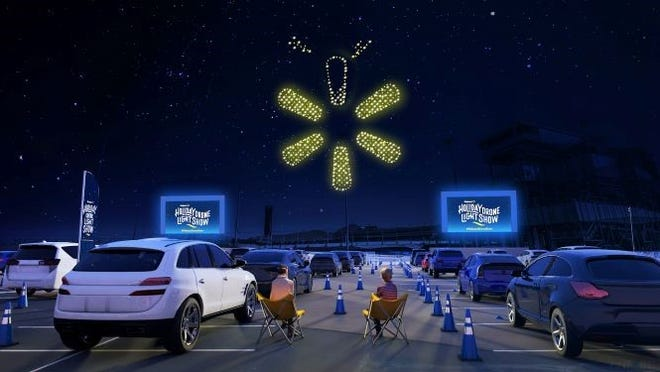 Walmart and Intel have teamed up to offer a new kind of holiday light and music display using drone technology. Eight cities in the nation will host the event. The one in Arkansas will take place Dec. 20 in Fayetteville.