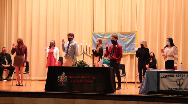 Bolivar-Richburg Central School (BRCS) inducted seven new members into their National Honor Society on Wednesday, December 2.