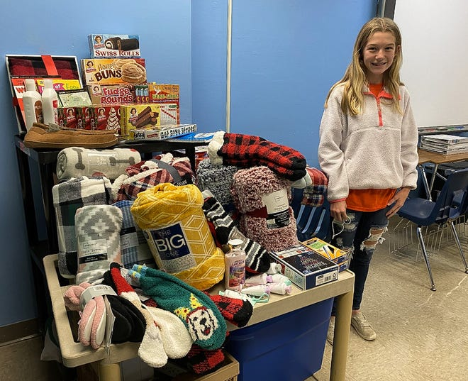 Mariska Wax has been collecting donations within the Zane Trace Local School District and across the county for the new Gift an Elder campaign. Donations collected will be sent to area nursing homes to remind the elderly that they aren't forgotten during the holiday season.