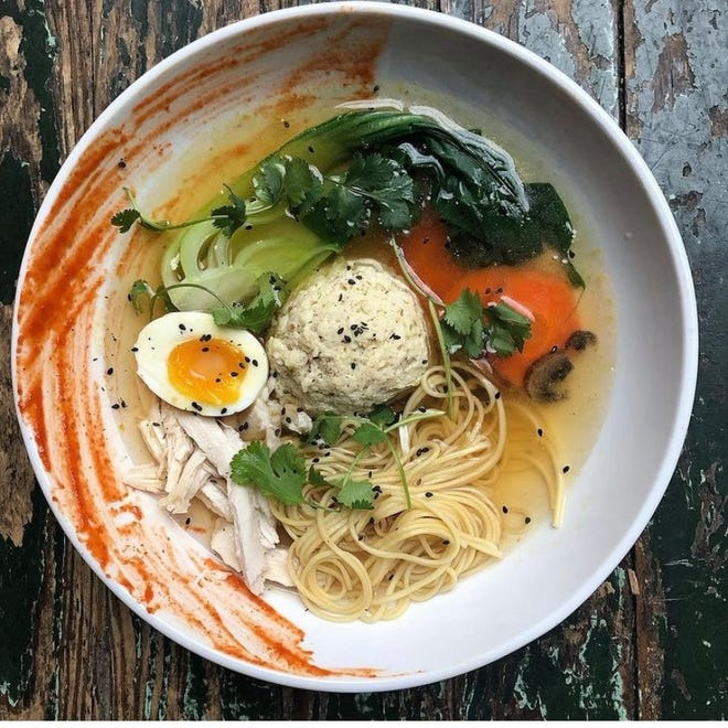Kayla Robison's matzo ball ramen will be available from Arnold's Bar & Grill