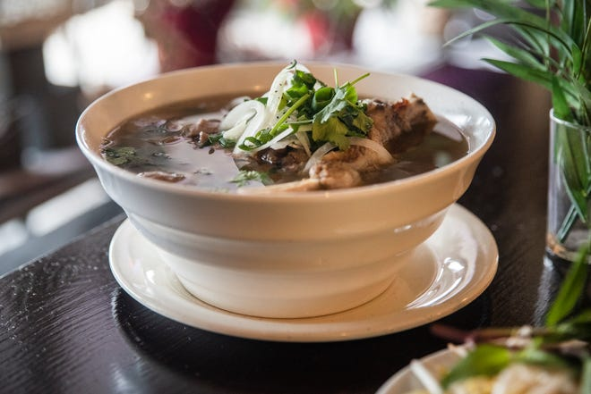 A pho dish from All Pho You is seen with short ribs, meatballs, tendon, and beef broth on Dec. 7, 2020 in Des Moines. The restaurant is competing in the fifth annual Pho King contest, where participants can vote between nine restaurants to fundraise for the Iowa Asian Alliance.