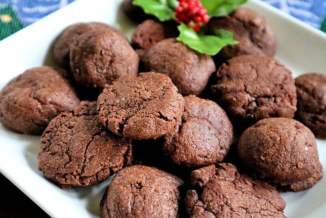 Kue Natal coklat Meksiko dicium dengan kayu manis dan sedikit cabai.