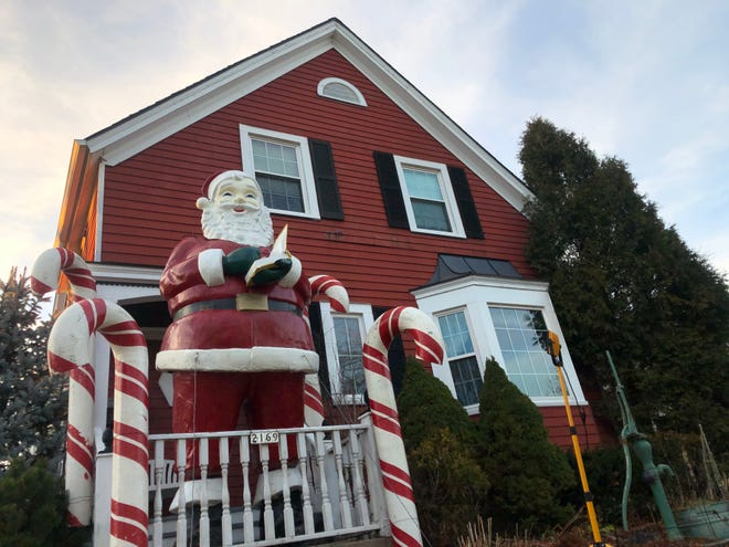 "Larry Awe's Wauwatosa home at 2169 N. 72nd Street is simply known as the ""Santa House"" in Wauwatosa."