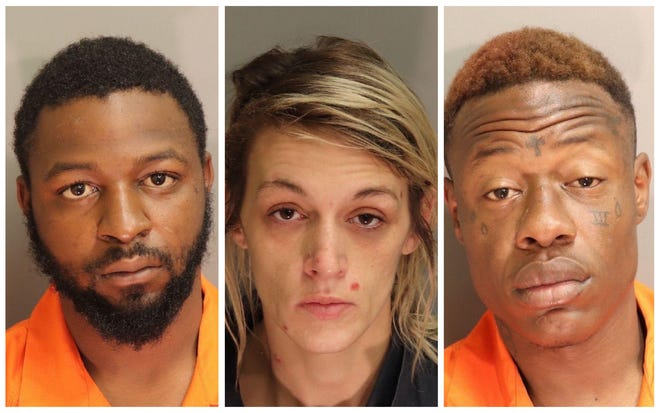 Jaquinton Murphy, Merissa Leah Pittman and Joseph Keon Bowe were each charged with first-degree robbery after a man was forced into a Motel 6 room at gunpoint.