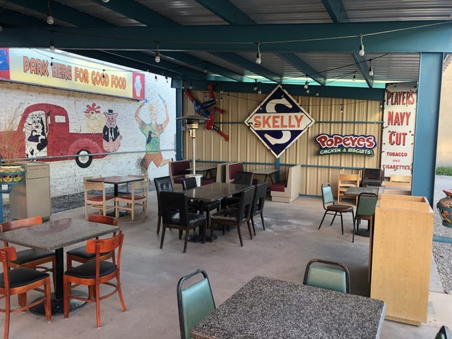 Sparky's Burgers and BBQ owner, Teako Nunn, decided to build a permanent patio for his restaurant this summer to expand outdoor dining availability during the COVID-19 pandemic.