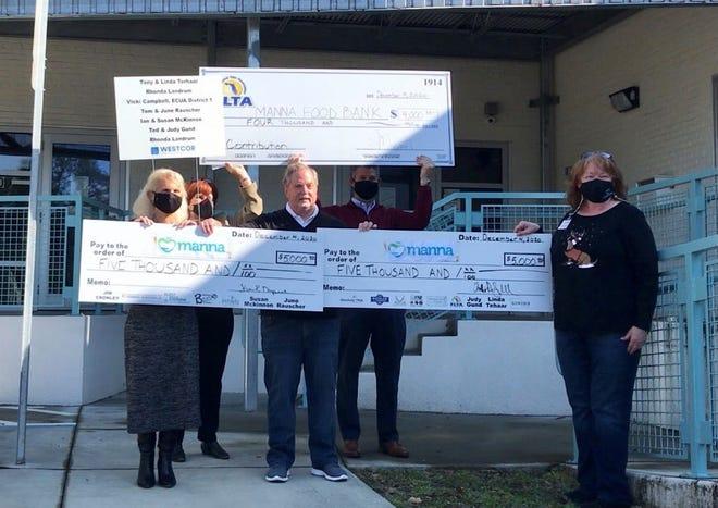 Florida Land Title Association event awards $14,000 to Manna Food Pantries.