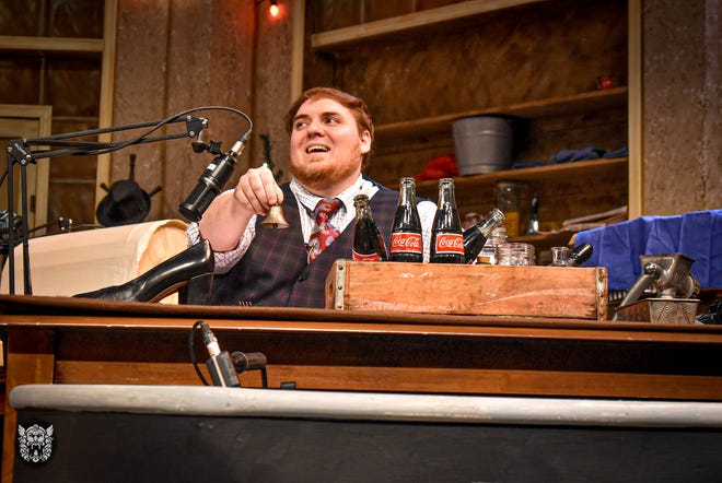 "Kaleb Norman is the foley, or sound-effects man, in ""It's a Wonderful Life: A Live Radio Play."""
