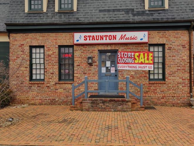 Staunton Music, open since 2006 on Greenville Avenue in Staunton, will be closing on Dec. 23.