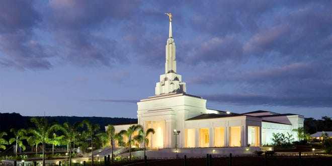 The Apia Samoa Temple is one of four Latter-day Saint temples that will be approved for proxy ordinance work as early as Dec. 21, 2020.