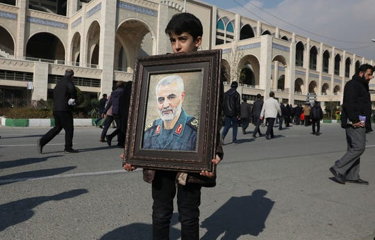 Hundreds of thousands of mourners took to the streets across Iran on Jan. 3, 2020, after Revolutionary Guard Gen. Qasem Soleimani was killed by a U.S. airstrike in Iraq.