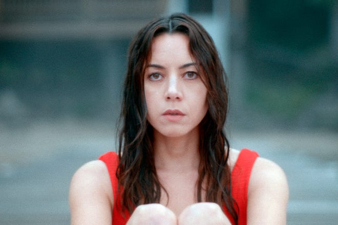 "This image released by eOne/Momentum Pictures shows Aubrey Plaza in a scene from ""Black Bear."" (eOne/Momentum Pictures via AP)"
