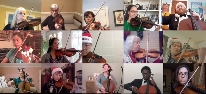 Members of the Athens Symphony performed remotely for the 2020 Christmas Concert, released online on Dec. 5.