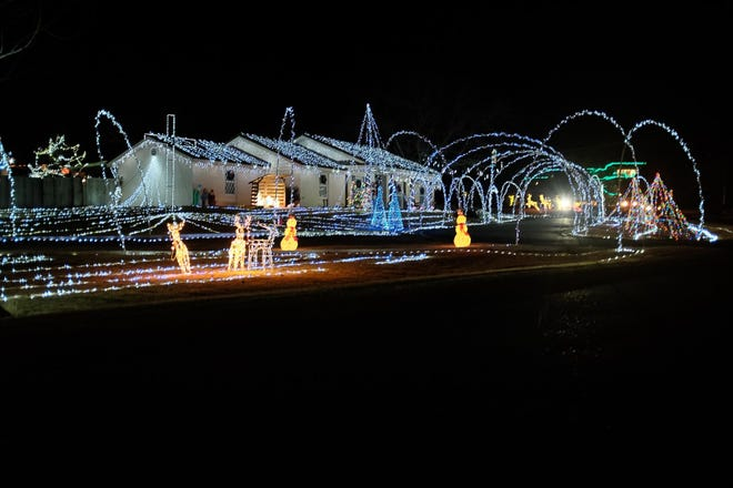 The Bishop Hills Neighborhood is continuing its tradition of Christmas lights through Dec. 26.