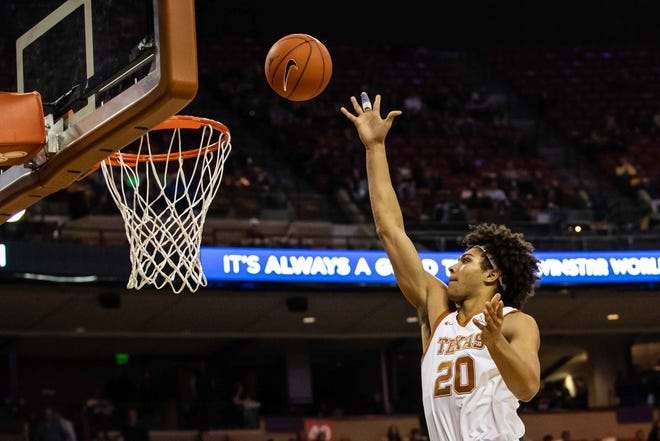 Texas forward Jericho Sims has started slowly this season. He's averaging 6.2 points and 6.4 rebounds a game so far for the Longhorns.