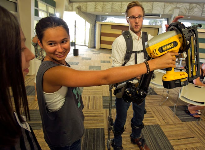 Columnist Don Magruder fell in love with the Dewalt nail gun.