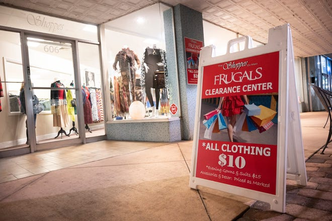 Frugals Clearance Center, 606 W. Main Street in the Shoppes on Main, is open 11 a.m. to 4 p.m. Wednesday through Saturday.  [Cindy Peterson/Correspondent]