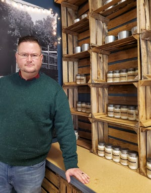 Bradley Watson of Reedy Creek has begun his 15th company, Watson Candle Co., where he makes 100 percent soy candles at his home and sells them from Bradley's Candle Shop in Tyro and to other stores that resale.