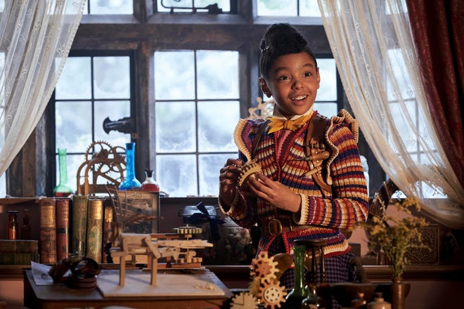 """Madalen Mills stars as Journey Jangle in a scene from the holiday special """"Jingle Jangle: A Christmas Journey."""""""