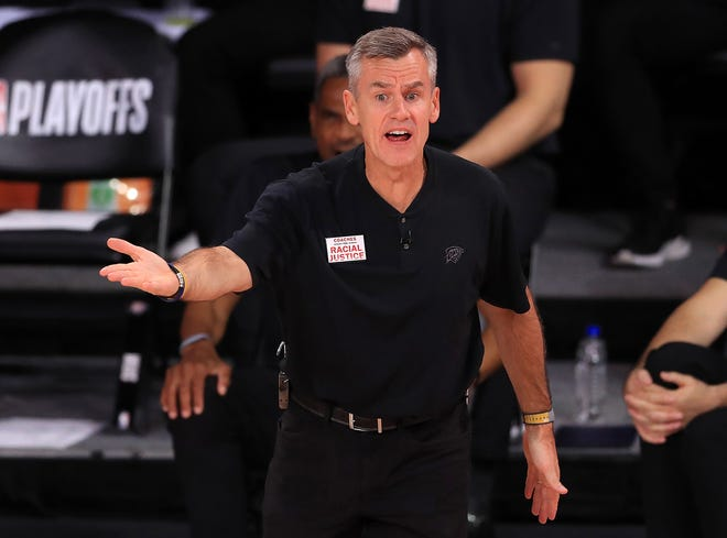 Billy Donovan, pictured with the Oklahoma City Thunder, has taken over as the Chicago Bulls' head coach and the players like the changes he's made.  (Mike Ehrmann/Getty Images/TNS)