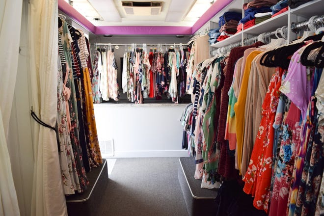 U.S. Army National Guard veteran Heidi Allen of Holly Ridge created a mobile boutique truck in 2019 for her e-commerce business Heavens To Betsy Boutique Online.