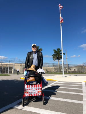 Richard DeLisi is released from prison in Palm Beach, Florida, on Tuesday after serving 31 years of a 90-year sentence for marijuana trafficking.