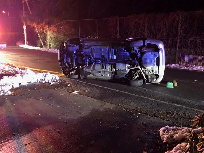 A motor vehicle rolled over on Monday night in Hopedale, with the occupant fleeing the vehicle. The accident is still being investigated.