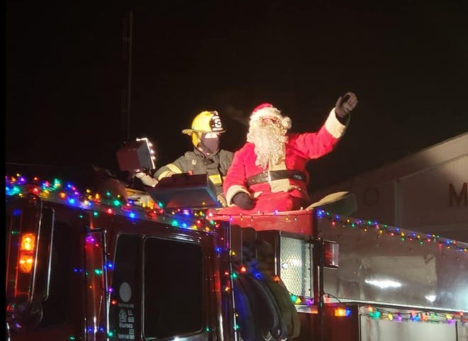 Millbury Fire Department's Santa Run in 2019