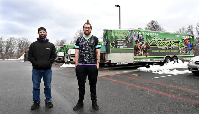 Matt Elder, left, of Ultimate Mobile Gaming, has partnered with Matt O'Toole of Aphelion, an eSports operation, to bring more gamers and tournaments to the region.