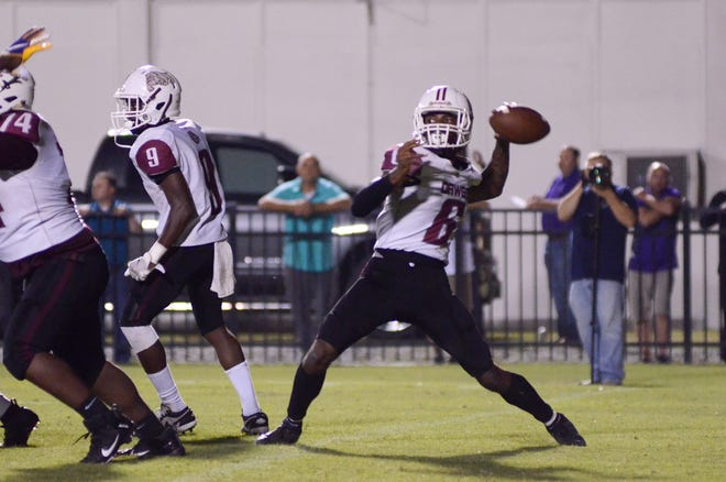 White Castle quarterback Tajh, seen here in recent action, is among the Bulldogs who aim to keep hope alive for a second consecutive trip to the Superdome when the Bulldogs host Homer on Friday. Kickoff is 7 p.m.