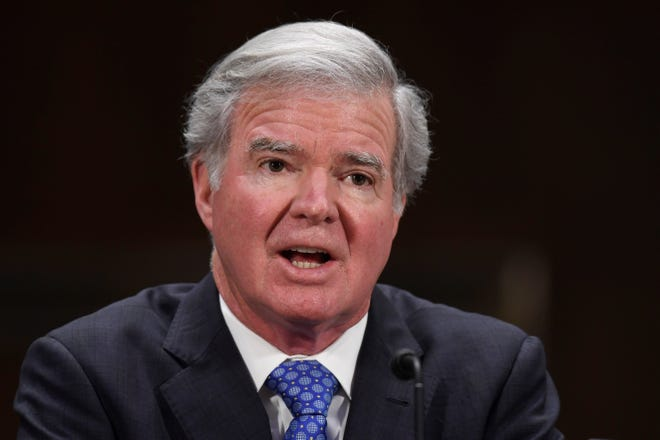 """NCAA President Mark Emmert said Tuesday that he is """"especially frustrated and disappointed"""" that the association will not be moving this week to change its rules regarding athletes' ability to transfer and to make money from the use of their names."""