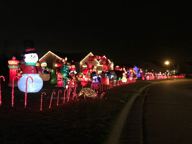 Merry Christmas from Katie Land at 7637 Knollridge Ave. NE in Plain Township features 79 inflatables and a nightly opportunity to meet Santa Claus.