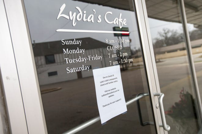Lydia's Cafe, on Tuesday in Rockford. Lydia's has closed temporarily because of health concerns related to COVID-19.