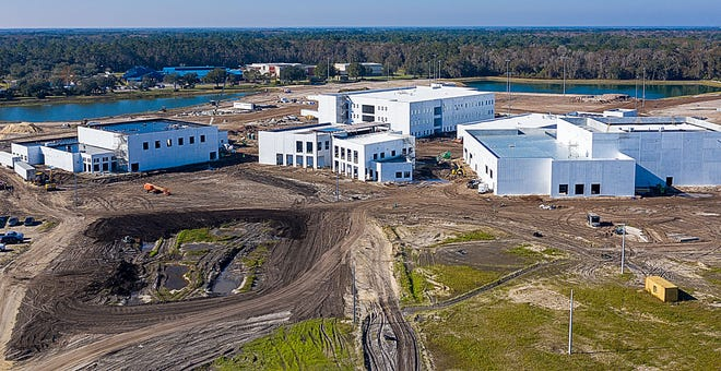Tocoi Creek High School, on International Golf Parkway, slated to open next fall is just one of the building projects funded by the county's half-cent sales tax.
