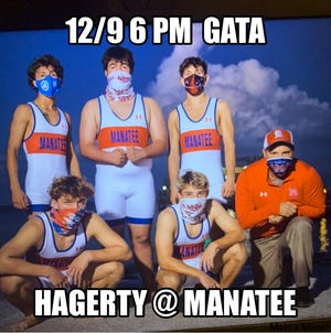 The Manatee High wrestling team will be wrestling Oviedo Hagerty on Wednesday.