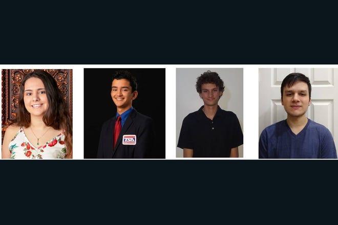 Braden River High School's Congressional App Challenge winners, from left, Ava Biasini, Jordan Sheehan, Kolby Wade and Nolwen Bachtle.