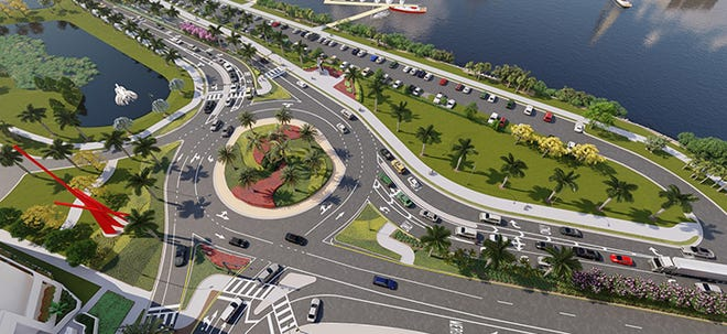 A rendering of the roundabout on U.S. 41 and Gulfstream Avenue. Construction is slated to begin in February.