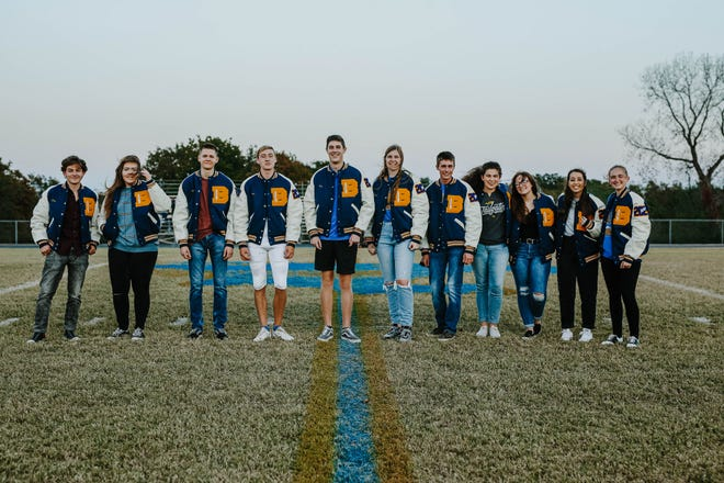 This year's Bethel High School academic letter jacket recipients are shown.