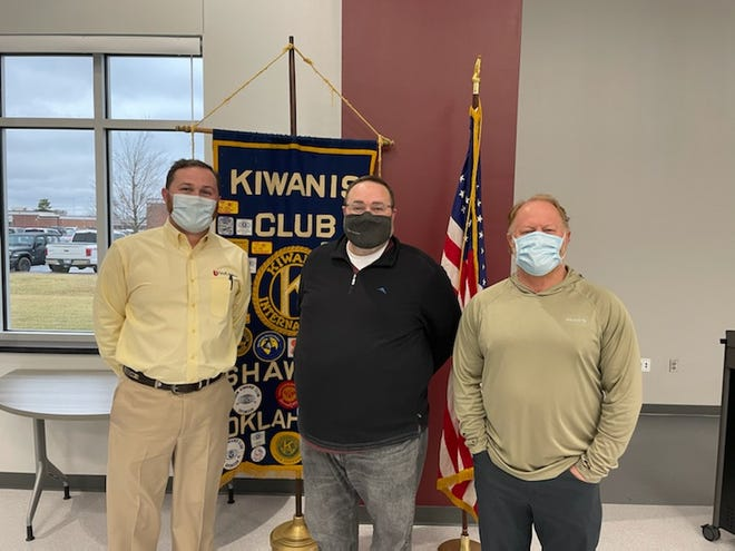 Jeremy Davidson was the guest speaker at Wednesday's lunch meeting for Kiwanis Club.