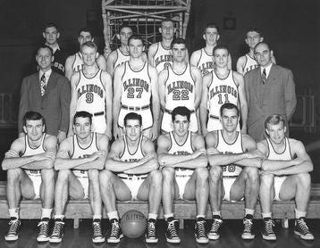 The 1948-49 University of Illinois men's basketball team.
