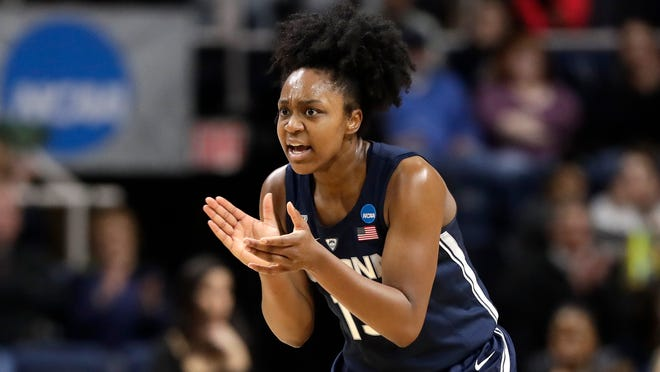 Connecticut guard Christyn Williams and the Huskies have returned to full practices.