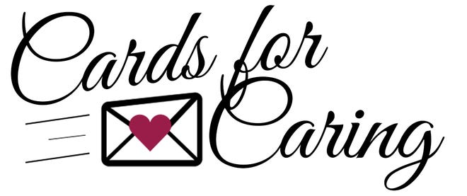 The logo for the Cards for Caring program.