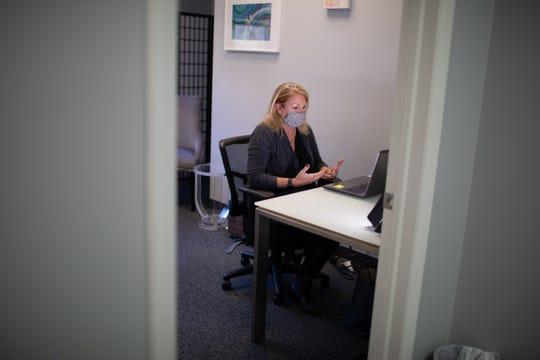 Wendy Keller works in her office in Newburgh on Dec. 7, 2020.