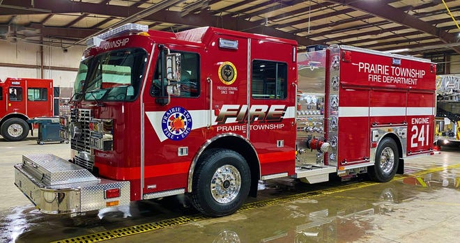 The Prairie Township Fire Department put its new 2020 Sutphen Monarch fire engine into service Dec. 2.