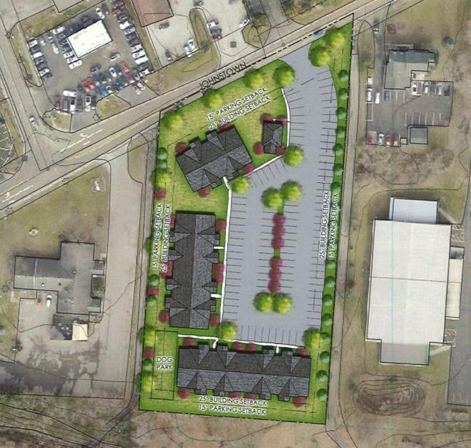 Sixty apartments at 307-319 W. Johnstown Road are planned by Big Sky Realty LLC of Columbus.